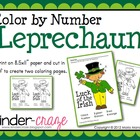 Color by Number Leprechaun