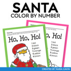 Color by Number Santa