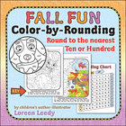 Color by Rounding Fall Fun {Round to Nearest 10 or 100}