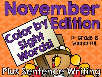 Color by Sight Words ~November Edition!!!
