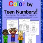 Color by Teen Numbers- Winter Sports