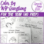 Color by WH Questions (for the entire year!)