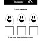 Color the Three Ghost Friends