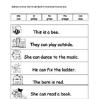 Color the sight word in the sentence