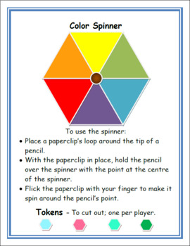 Color wheel FUN plus BOARD GAME WITH SPINNER
