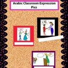 Colored Arabic Classroom Expression Pics for Walls