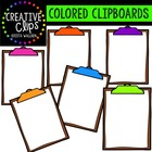 Colored Clipboard Clipart {Creative Clips Digital Clipart}