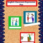 Colored English Classroom Expression Pics for Walls