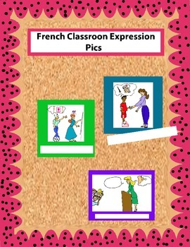 Colored French Classroom Expression Pics for Walls