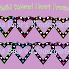 Colored Heart Frames Clip Art Graphics