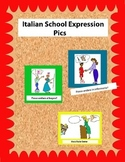 Colored Italian Classroom Expression Pics for Walls