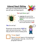 Colored Pencil Editing - A Colorful Twist on Editing Writi