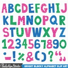 Colorful Alphabet Clip Art - Letters A-Z