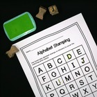 Colorful Alphabet Stamping - Free Printable