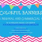 Colorful Banners for Personal and Commercial Use