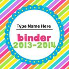 Colorful Binder Covers (Editable)
