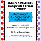 Colorful &amp; Black Dots Backgrounds &amp; Frames Freebie! (Comme