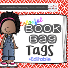 Colorful Book Bag Labels
