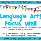 Colorful Bunting Language Arts Focus Wall Headers