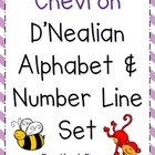 Colorful Chevron Alphabet and Number Line - D'Nealian