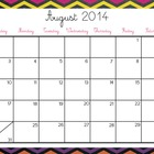 Colorful Chevron Calendars 2014-2015