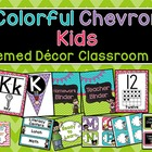 Colorful Chevron Kids Themed Decor Set