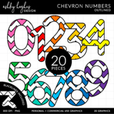 Colorful Chevron Numbers {Graphics for Commercial Use}