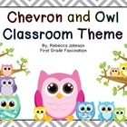 Colorful Chevron and Owl Calendar Classroom Super Pack