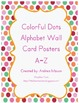 Colorful Dots Alphabet Wall Card Posters