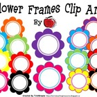 Colorful Flowers Frames Clip Art