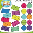 Colorful Fractions Clipart  20 Colorful Graphics!