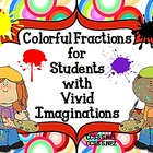 Colorful Fractions Word Problems for CCSS 5.NF.2