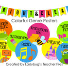 Colorful Genre Posters (Bright &amp; Clear Decor)