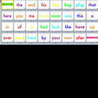 Colorful Kindergarten Sight Words Slideshow Movie &amp; Flashcards