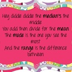Colorful Mean, Median, Mode, Range Poster