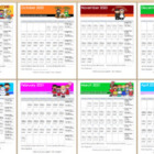 Colorful Monthly Reading Calendar/Log - Reading Incentive System!