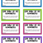 Colorful No Homework Passes! - Classroom Management & Rewards