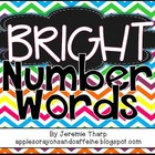 Colorful Number Word Mini-Posters 1-100