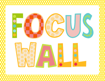 Colorful Owl Themed Focus Wall Headers