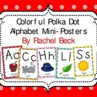 Colorful Polka Dot Alphabet Mini-Posters