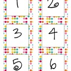 Colorful Polka Dot Calendar Numbers