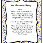 Colorful Polka-Dot Classroom Library Sign