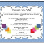 Colorful Polka Dot Name Plates