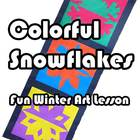 Colorful Positive/Negative Space Snowflakes