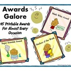 Colorful Printable Classroom Awards &amp; Certificates For Teachers