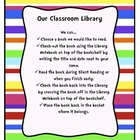 Colorful Stripe Classroom Library Procedures