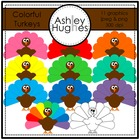 Colorful Turkeys {Graphics for Commercial Use}
