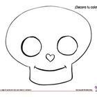 Coloring Activity: Día de los Muertos: Day of the Dead: ¡D