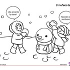 Coloring Activity: El muñeco de nieve / The snowman
