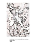 Coloring Book & Printables, Angels, 12, from Paintings in